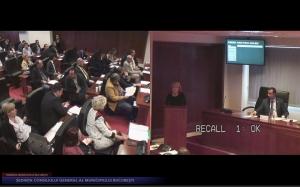 Dna Cernescu la sedinta Consiliului General al Municipiului Bucuresti